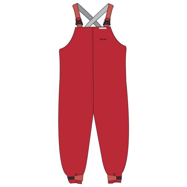 Bibs red non reflective