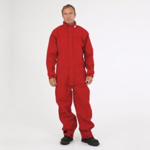 red coverall
