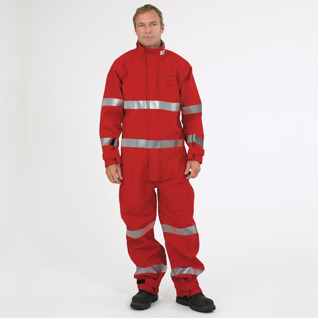 reflective coverall red